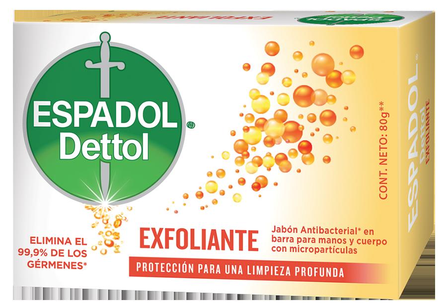 Espadol Dettol Jabón en Barra x1 Exfoliante