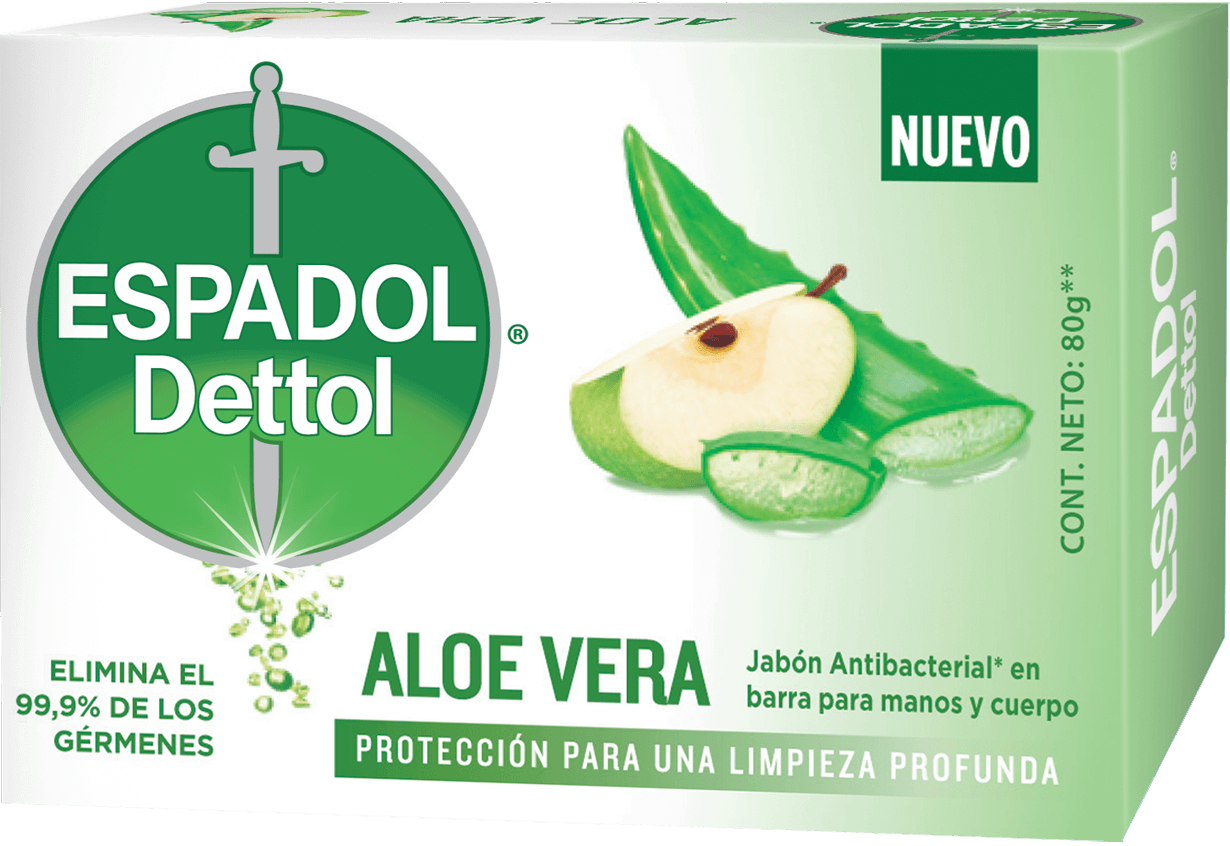 Espadol Dettol Jabón en Barra x1 Aloe Vera