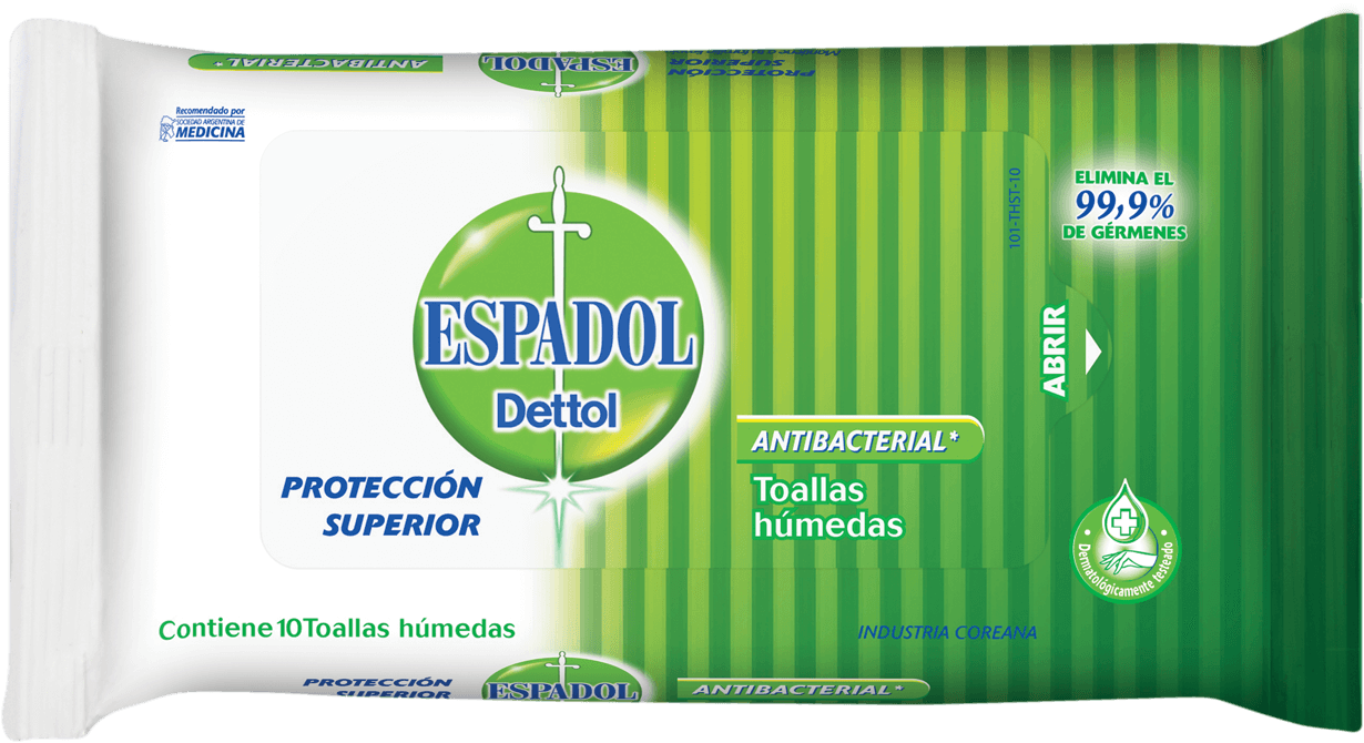 Espadol Dettol Toallas Húmedas Antibacteriales Original